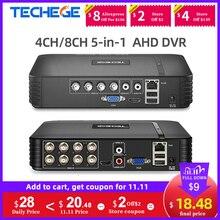 Techege 4チャンネル8チャンネルahd dvr AHD M 720p/960 960h cctv dvr 4CH 8CHミニハイブリッドhdmi dvrサポートipアナログカメラロシア株式