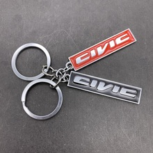 3D Metal Keychain Key Chain Ring Keyring Key Holder for Honda CIVIC ACCORD Letters Logo Keychain Car Styling Auto Accessor
