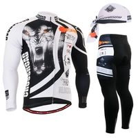 2020 Fashion Winter Team Bicycle Bike Jacket sets Cycling Long sleeve set gel padded Cycling clothes man outdoor wear