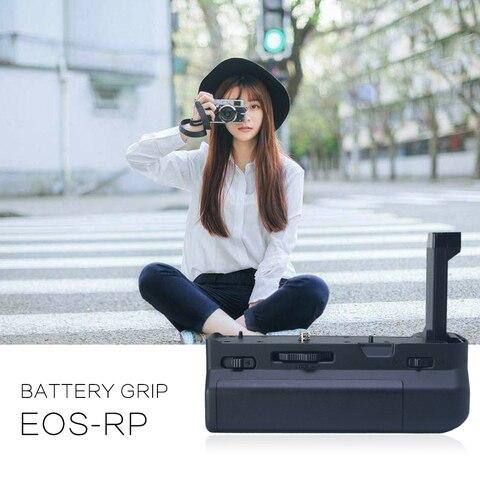Suporte de Aperto da Bateria Vertical para Canon Trabalho com Lp-e17 Mcoplus Bg-eosrp Câmera Substituição Eg-e1 Bateria Eos rp