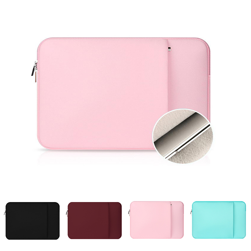 For Macbook Air Pro Soft Plush Lining Version Waterproof For 11 12 13 14 15 15.6 Inch Laptops Sleeve Case With Front Pocket Case