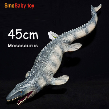 45cm Simulated Mosasaurus Dinosaur Biological Educational Plastic Model Kids Children Lifelike Toy Gift lifelike dinosaur model static solid mosasaurus dinosaur realistic figures perfect toys decoration for party favor kid toy gift