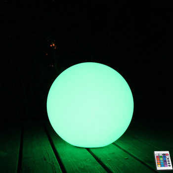 2019 New D20cm D25cm D30cm LED Solar Lamp Ball Waterproof Solar Spot Lights Outdoor Path Wall Lamp for Christmas Decoration 1pc