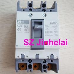 V-образной КРЕПЕЖНОЙ ПЛАСТИНОЙ LS ABS33b подлинный оригинальный ABS 33b формованные чехол автомат защити цепи ABS-33B воздушный выключатель 3P 6A/10A/16A/20A...