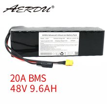 AERDU 48V 13S3P 9.6Ah 10Ah 18650 750W 350W Lithium-ion battery pack For ebike scooter motor bicycle with 20A BMS