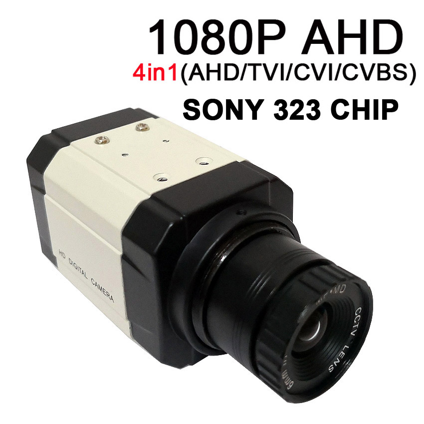 AHD 1080P 4in1 (AHD/TVI/CVI/CVBS) Box Mini Camera With Osd Menu Built In SONY IMX323 + FH8536E