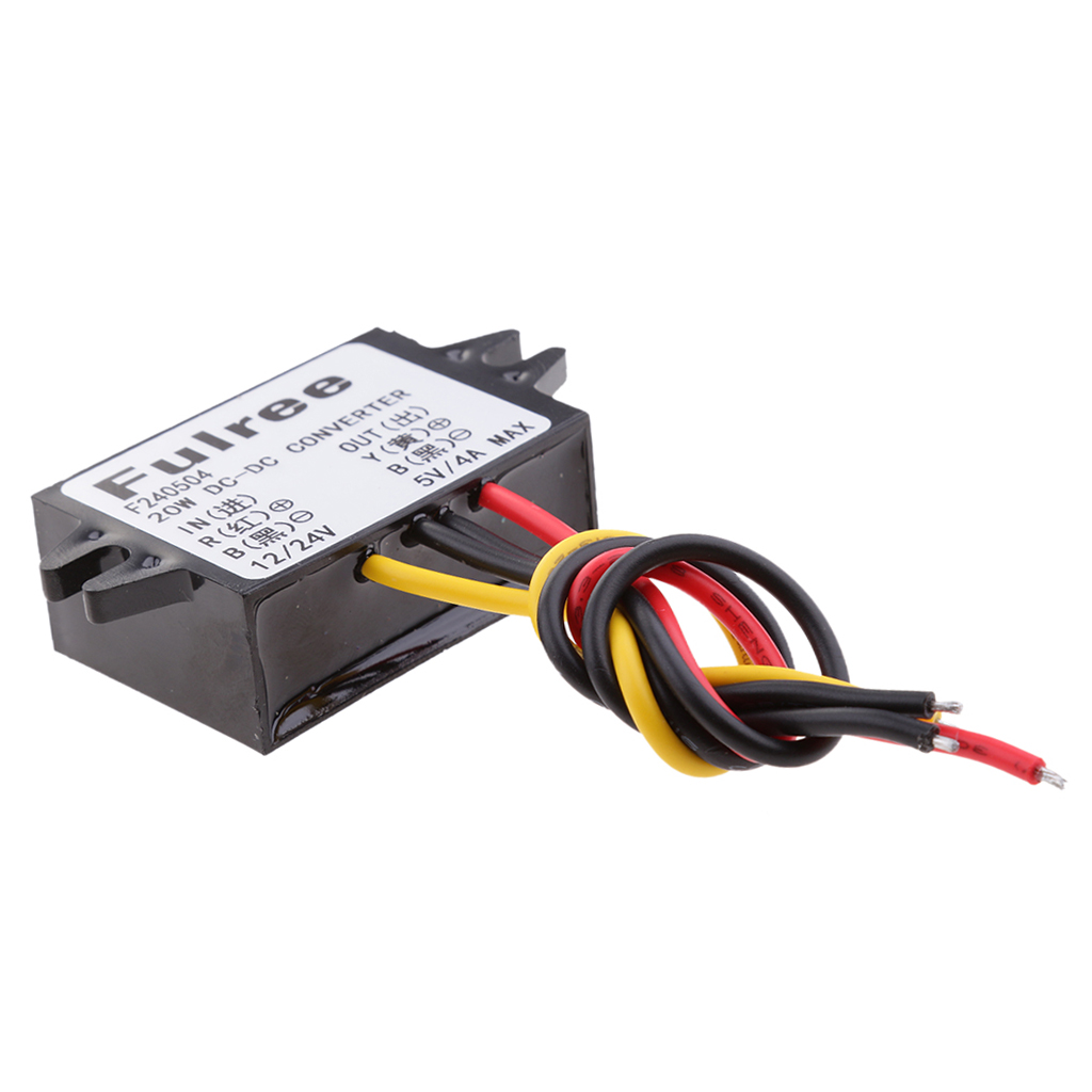 <font><b>12V</b></font> 24V 8-36V to <font><b>5V</b></font> <font><b>4A</b></font> 20W <font><b>DC</b></font> <font><b>Converter</b></font> Step Down Regulator Car LED Power Supply image