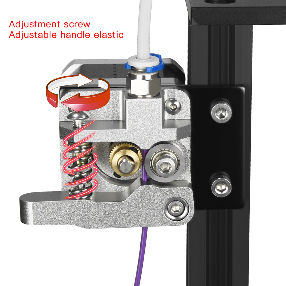 MK8 Aluminum Block Bowden extruder for Ender 3 CR10 CR10S PRO as 3D Printer Parts 5