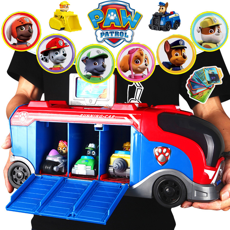 Paw Patrol Car Ryder Sliding Team Big Truck Music Rescue Team Toy Patrulla Canina Puppy Patrol Toys For Children Christmas 2D40