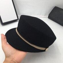 Hüte für frauen und männer die neue reit kappe ritter von herbst winter classic schwarz tuch kappe kappe joker homburg mauny visiere