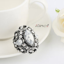 Kinel белые кольца из натурального камня большие антикварные