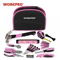 Nuevo Juego de Herramientas rosa de 103 piezas WORKPRO, juego de herramientas de mano para mujer con bolsa fácil de llevar, juego de herramientas para el hogar para Mantenimiento del Hogar DIY