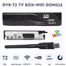 Горячая Распродажа! Европейский декодер H.265/HEVC 1080P DVB-T2 HD цифровой наземный приемник DVB-T ТВ-тюнер с поддержкой M3U Youtube + USB WIFI