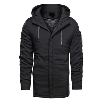2019 New Winter Casual Thicken Hooded wadded Jacket coat Men's Long Solid Color Youth Large soft Men's cotton padded overcoat 4X