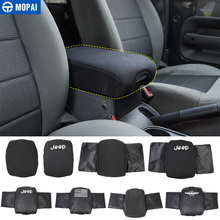 MOPAI Stowing Tidying for Wrangler 07 10 Car Armrest Storage Box Pad Cover Accessories for Jeep Wrangler JK 2007 2008 2009 2010