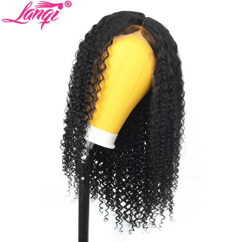 Afro peruka z kręconych włosów typu kinky 4 × 4 zamknięcie koronki peruka ludzkich włosów peruki dla kobiet brazylijski koronki przednie zapięcie peruka nie remy darmo do brazylii