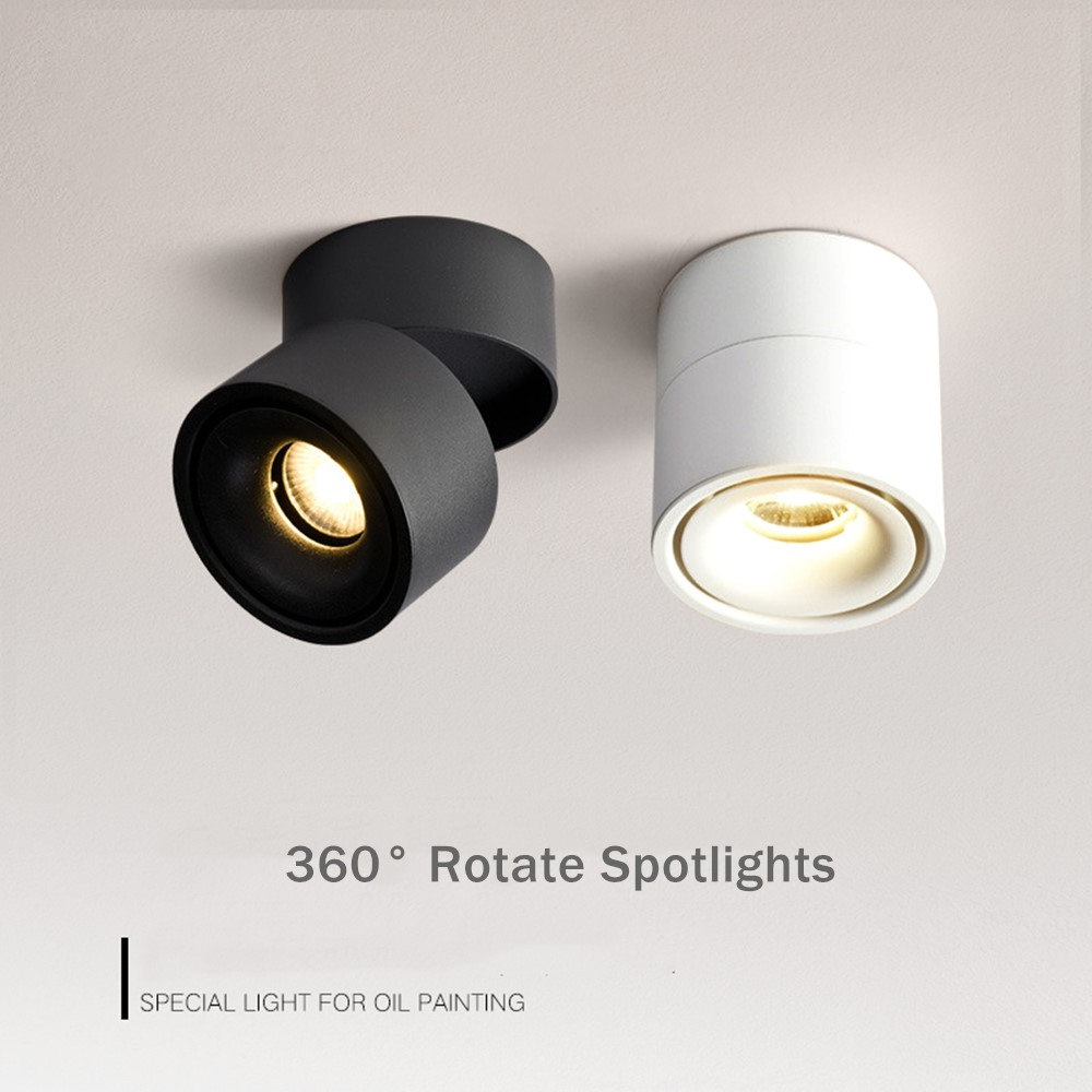 Nordic Spot Light Surface Mounted Ceiling Led Downlight Foldable 360 Degree Rotatable Spot Led Ceiling Lamp For Indoor Lighting