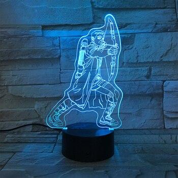Avengers Endgame Hawkeye Figure Sleep Light RGB Party Decoration Nightlight Projection Lamp  Legends