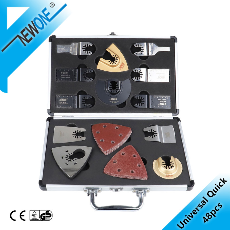 NEWONE Quick Release Saw Blade Kit Oscillating  Multimaster Tools Set Fein Dremel Multi-Max,as Wood-metal Cutter