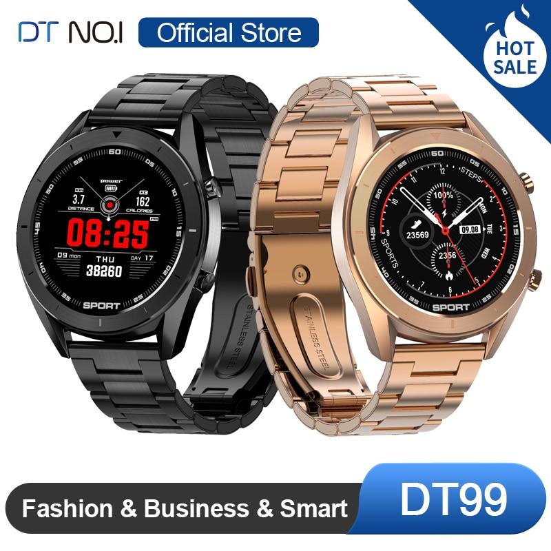 DTNO.I No.1 DT99 Smart Watch IP68 Waterproof Round HD Screen ECG Detection Changeable Dials Smartwatch Fitness Tracker Men