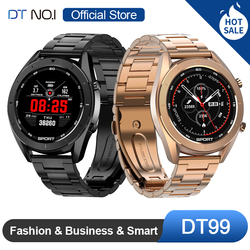DTNO.I No.1 DT99 Smart Watch IP68 Waterproof Round HD Screen ECG Detection Changeable Dials Smartwatch Fitness Tracker Men