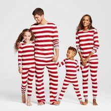 цена 2019 New Christmas Family Matching Outfits Mom Dad Kids Baby Christmas Pajamas Set Festival Sleepwear Nightwear Clothing в интернет-магазинах