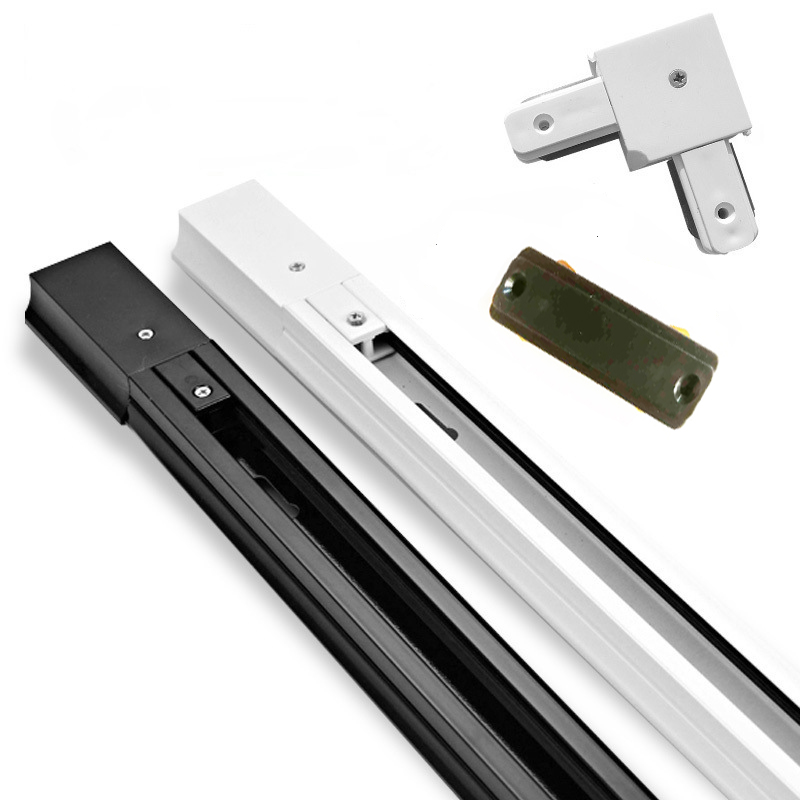 0.5M Length 2 - Wire Aluminum Track Rail I L T X Cross Connector Jointer For 2 Wire Tracking Light LED Spotlight Rails