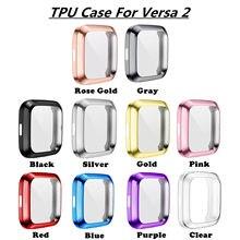 Мягкий чехол из ТПУ Для Fitbit Versa1 Versa 2 versa 3 versa lite водонепроницаемый чехол для часов Защита экрана для Fitbit Versa