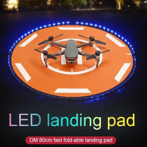 Almofada de Pouso Almofada de Pouso para Dji 80cm com Luzes Mavic Mini ar Led Portátil Dobrável para Drone Acessórios Dji 2 Pro