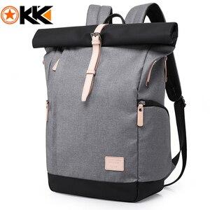 Image 1 - KAKA Marke Männer Frauen Rucksack Tasche College Casual Schule Rucksack Männlichen Reisetasche 15,6 USB Laptop Rucksäcke Mochila rucksack