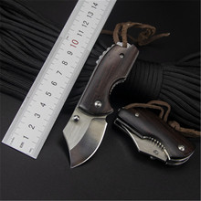 Cuchillo plegable de acero inoxidable, cuchillo táctico de hoja afilada, multifunción, minillavero de rescate, caza, herramienta EDC al aire libre