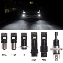 2Pcs H8 H11 LED Car Fog Light Lights Bulbs 1156 1157 P13W H16 H4 White 12V 24V 6500K Driving Lamp Super Bright Foglight
