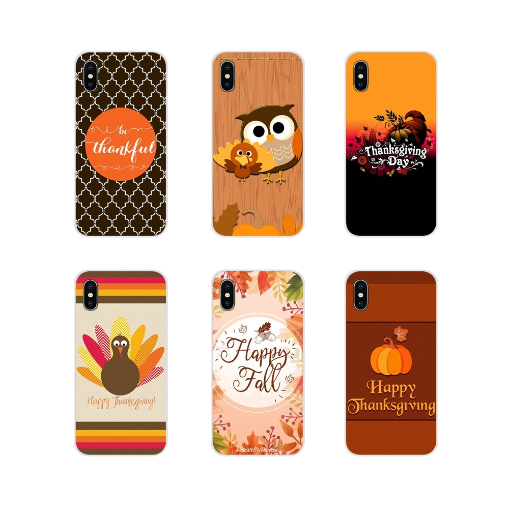 Happy Thanksgiving Accessories Phone Shell Covers For <font><b>Huawei</b></font> Nova 2 3 2i 3i <font><b>Y6</b></font> Y7 Y9 Prime Pro GR3 GR5 <font><b>2017</b></font> 2018 2019 Y5II Y6II image