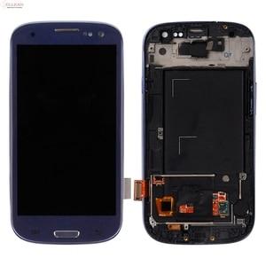 Image 4 - Catteny i9301 i9305 Lcd ekran Samsung Galaxy S3 Lcd i9300 ekran dokunmatik ekran Digitizer meclisi + çerçeve + homebutton