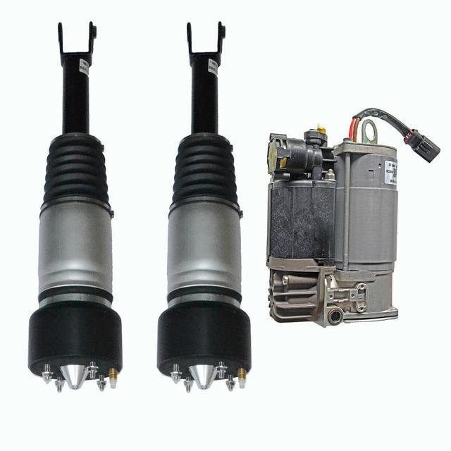 AP03 אוויר השעיה אביב הלם יתד קדמי שמאל ימין + מדחס עבור יגואר XJ X350 X358 XJR XJ8 3.0 4.2 c2C41339 C2C41349