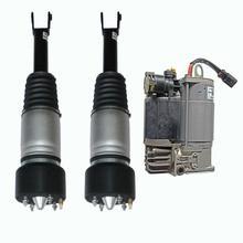 AP03 الهواء تعليق الربيع صدمة تبختر الجبهة اليسرى اليمنى + ضاغط ل جاكوار XJ X350 X358 XJR XJ8 3.0 4.2 C2C41339 C2C41349