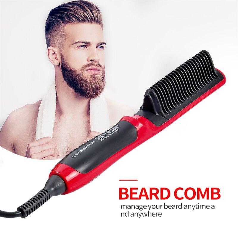 Multifunctional Hair Comb Brush Beard Straightener Hair Straighten Straightening Comb Hair Curler Quick Hair Styler Men Dropship