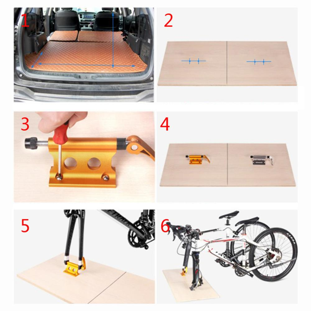 Car Pickup Alloy Bike Carrier Quick-Release Fork Lock Mount Rack