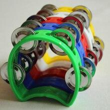 Колокольчик с бубном, металлический колокольчик, пластмассовая погремушка, мяч, ударные, вечерние, детские игрушки, музыкальные инструменты, бубен для детей