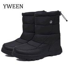 YWEEN bottes hommes bottes de neige 2020 nouveau noir imperméable hommes bottes d'hiver en peluche très chaud antidérapant en plein air coton chaussures