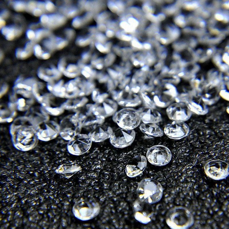 1000pcs Acrylic Crystal Diamonds 3mm 4mm 6mm 8mm 10mm Birthday Wedding Party Decor Mixed Clear Diamonds