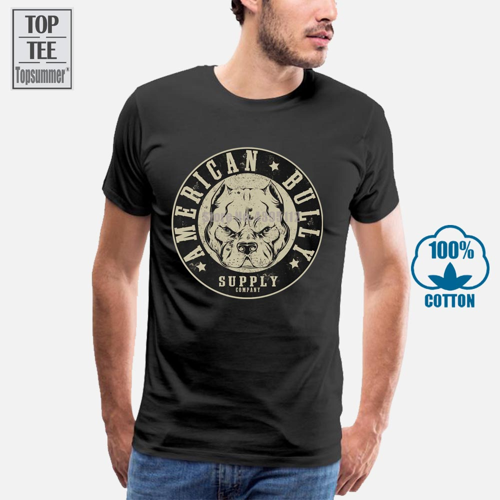 New 2018 Men O Neck Short Sleeves Big Block Black American Bully <font><b>Shirt</b></font> <font><b>Pit</b></font> <font><b>Bull</b></font> <font><b>Shirt</b></font> American Bully Supply Sm Cotton T <font><b>Shirt</b></font> image