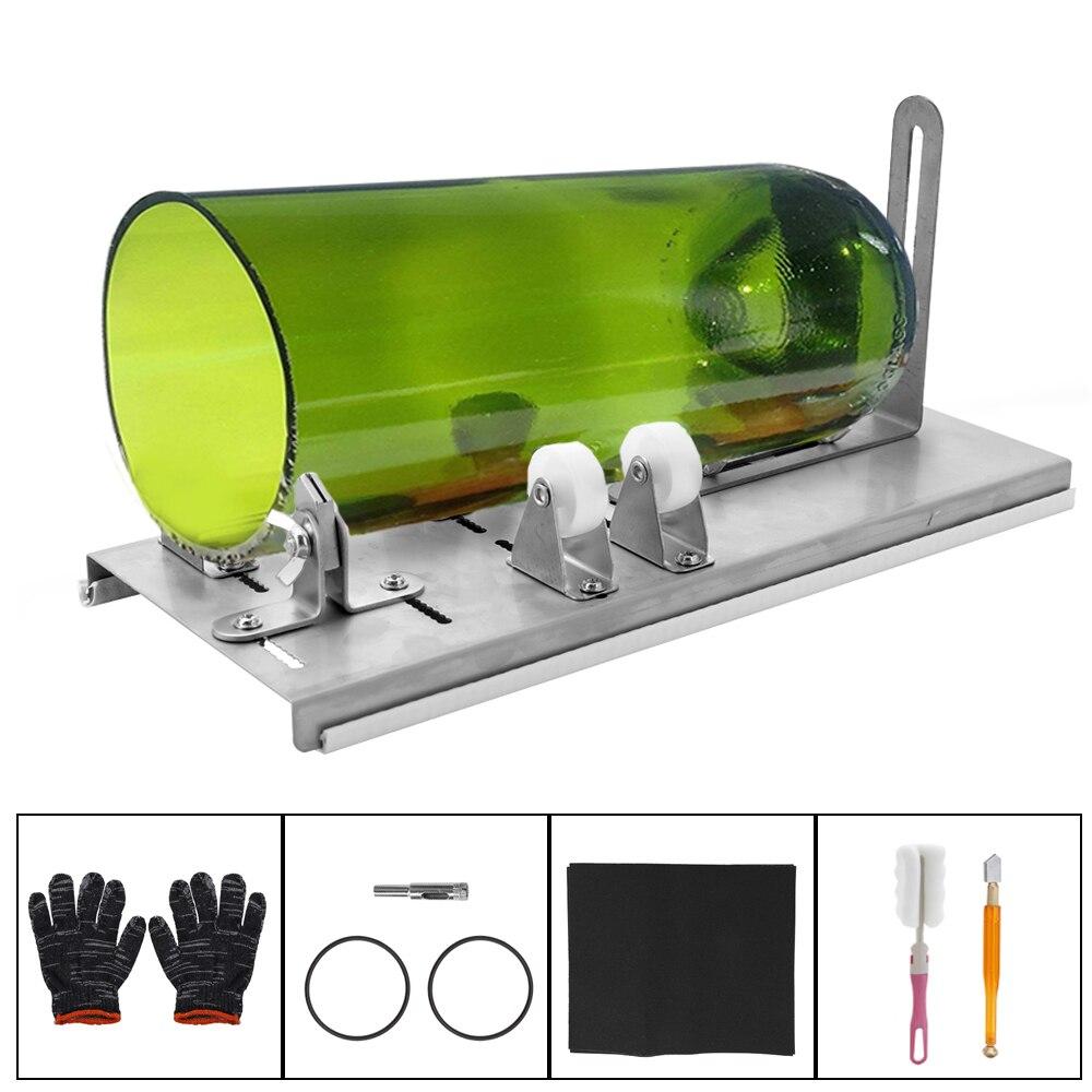 DIY Glass Bottle Cutter Adjustable Sizes Metal Glassbottle Cut Machine For Crafting Wine Bottles Decorations Cutting Tool