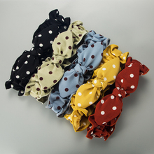 New Fabric Scrunchies Large Intestine Hair Ring Chiffon Printing Rabbit Bowknot Elastic Rubber Band Hair Ring Rope Tie for Lady wild hair band female striped wild color large intestine ring elastic band hair ring hair rope hair accessories coconut tree