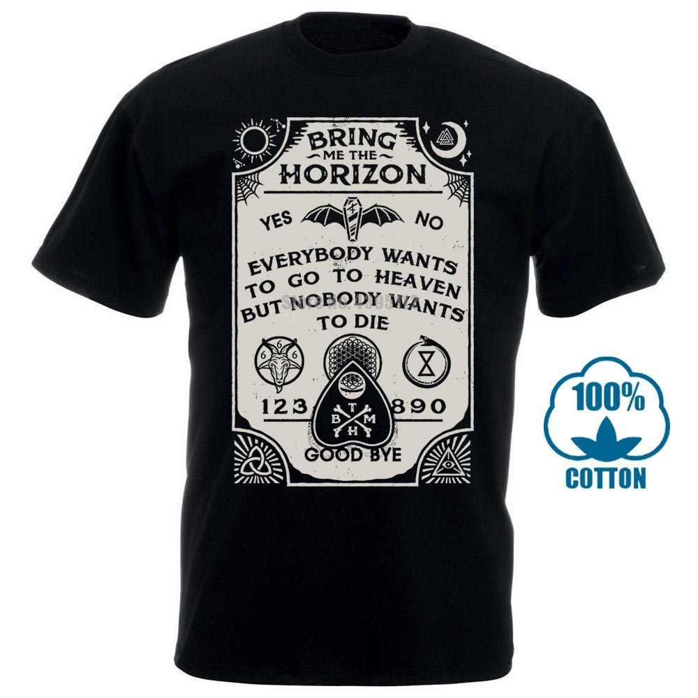 Футболка с принтом для мужчин Bring Me The Horizon Ouija Board черная обтягивающая футболка новая официальная взрослая