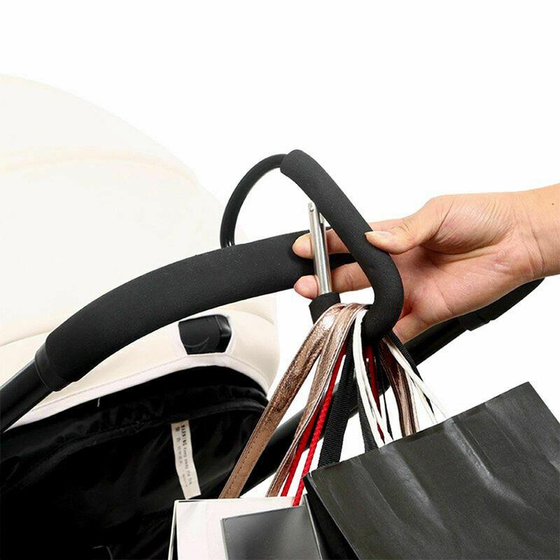 2Pc Buggy Clip Shopping Bag Pram Baby Pushchair Stroller Hook Hanging Holder
