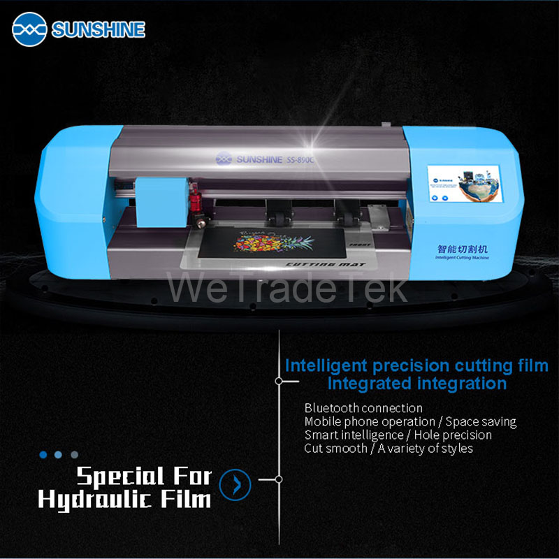 Tools : Newest SS-890C Auto Film Cutting Machine Phone LCD Screen Back Cover Protector Cutting Machine for Phone Watch Airpods Camera