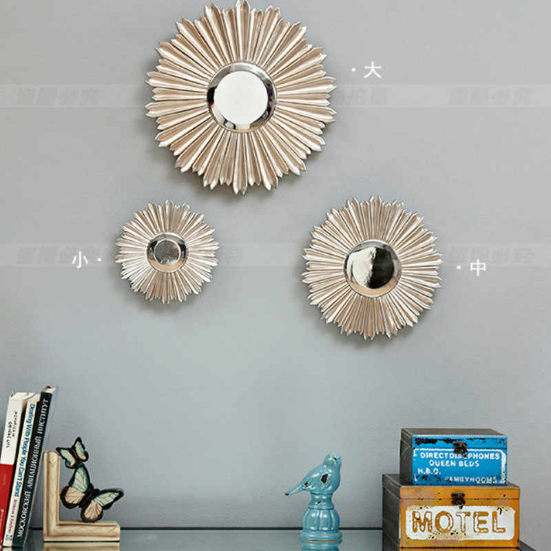 "10/"" Nordic Sun Mirror Geometry Phnom Penh Wall Mirror Salon Wall Art Decor"