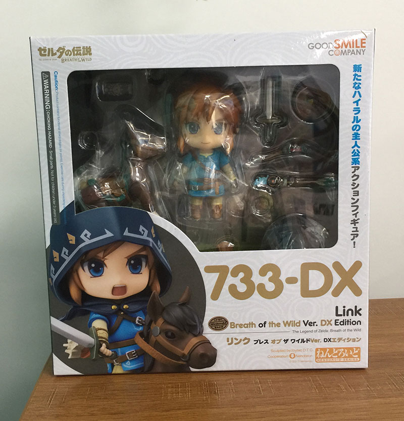 FIGURA LINK BREATH OF THE WILD ACTION FIGURE NENDOROID BOX. THE LEGEND OF ZELDA