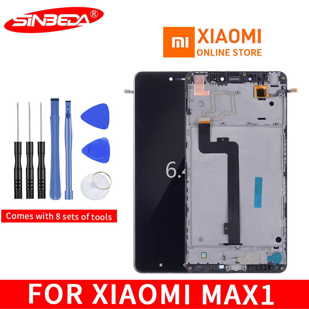 "Original 6.44"" LCD For XIAOMI Mi Max LCD Display Touch Screen MI mimax with Frame for Xiaomi Mi Max LCD Display Replacement"